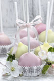 Colorful cake pops, birthday party. Royalty Free Stock Photo