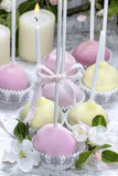 Colorful cake pops, birthday party. Royalty Free Stock Photos