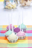 Colorful cake pops, birthday party Royalty Free Stock Photos