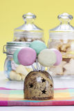 Colorful cake pops, birthday party Royalty Free Stock Images