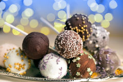 Colorful cake pops Royalty Free Stock Photos