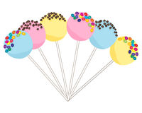 Colorful cake pops Stock Photography