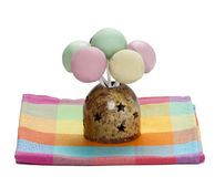 Colorful cake pops isolated on white background Royalty Free Stock Photo