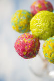 Colorful cake pops Royalty Free Stock Photography