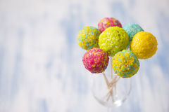 Colorful cake pops Royalty Free Stock Photo