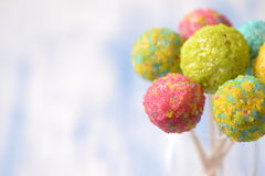 Colorful cake pops Royalty Free Stock Images