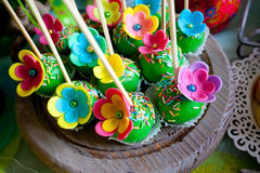 Colorful cake pops Stock Image