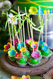 Colorful cake pops Stock Photos