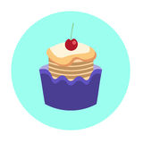 Colorful Cake Sweet Dessert Food Icon Stock Photos