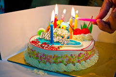 Colorful cakes at birthday party Royalty Free Stock Photo