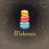 Colorful cakes makarons Royalty Free Stock Photography