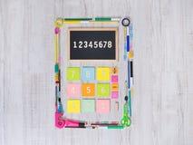 Colorful calculator Stock Photo