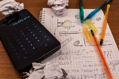 Colorful calculus Royalty Free Stock Images