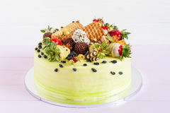 Colorful cale with summer fruit Royalty Free Stock Photography