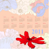 Colorful calendar Stock Images