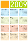 Colorful Calendar for 2009. Eps format available Vector Illustration