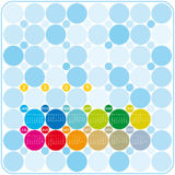 Colorful Calendar for 2009. In a circles theme Vector Illustration