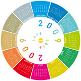 Colorful calendar for 2009. Rotating design Royalty Free Illustration