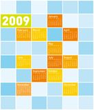 Colorful Calendar for 2009. With a multiple squares theme (which can be replaced with pictures stock illustration
