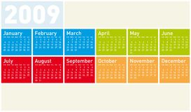 Colorful Calendar for 2009. Colorful Calendar for year 2009 Stock Illustration