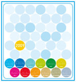 Colorful Calendar for 2009 Stock Photography