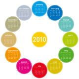 Colorful Calendar for 2010. Colorful Calendar for year 2010, in  format Stock Image