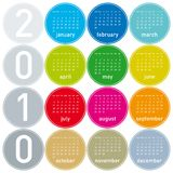 Colorful Calendar for 2010. Royalty Free Stock Image