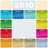 Colorful Calendar for 2010 Stock Images