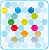 Colorful Calendar for 2010. Colorful Calendar for year 2010 in a circles theme. in  format Stock Photos