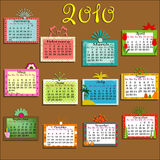 Colorful Calendar for 2010. Year Vector Illustration