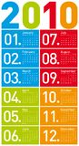 Colorful Calendar for 2010. Stock Photography