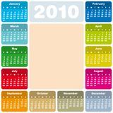 Colorful Calendar for 2010 Royalty Free Stock Photos