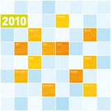 Colorful Calendar for 2010. Colorful Calendar for year 2010. in vector format Stock Photo