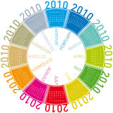 Colorful Calendar for 2010. Colorful Calendar for year 2010, rotating design, in vector format Stock Photos