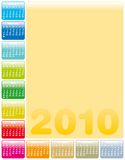 Colorful Calendar for 2010. Colorful Calendar for year 2010 in vector format Royalty Free Stock Photography