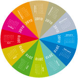 Colorful Calendar for 2010. Colorful Calendar for year 2010, rotating design, in vector format Royalty Free Stock Photo