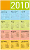 Colorful Calendar for 2010. Stock Photos
