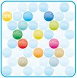 Colorful Calendar for 2010. Stock Photos