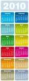Colorful Calendar for 2010 Stock Photography