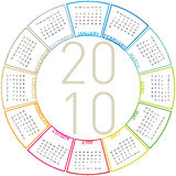 Colorful Calendar for 2010. Colorful Calendar for year 2010, rotating design, in vector format Stock Photo