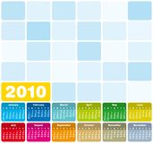 Colorful Calendar for 2010. Colorful Calendar for year 2010 in vector format Stock Photography