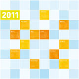 Colorful Calendar 2011. Colorful Calendar for Year 2011, week starts on Sunday royalty free illustration
