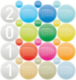 Colorful Calendar 2011 Stock Images