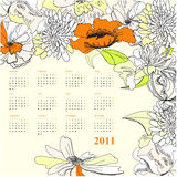 Colorful calendar for 2011. Universal template for greeting card, web page, background Royalty Free Stock Photography