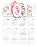 Colorful  calendar for 2011. Colorful 2011 calendar in editable  format Stock Images