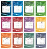 Colorful calendar 2012. Colorful monthly calendar 2012, week starts with Sunday. No additional format available Royalty Free Stock Photo