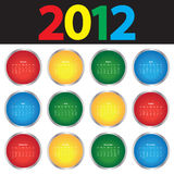 Colorful Calendar for 2012 Royalty Free Stock Image
