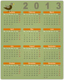 Colorful calendar for 2013 Royalty Free Stock Photography