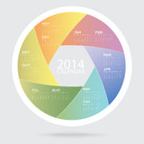 Colorful Calendar Art 2014 Royalty Free Stock Images