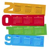 Colorful Calendar Calendar 2019 Stock Photos